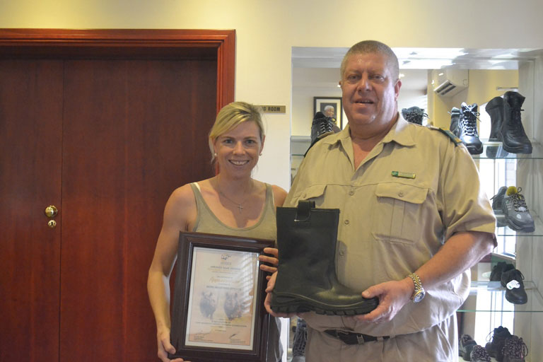 uMkhuze's anti-poaching rangers elated with boot donation